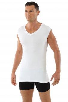 """Men's undershirt sleeveless flat v-neck """"Stuttgart"""" white XXL"""