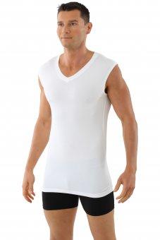 """Men's sleeveless v-neck undershirt """"Stuttgart light"""" white"""