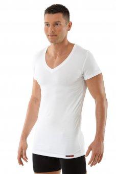 """Men's flat v-neck short sleeve undershirt """"Stuttgart"""" white"""