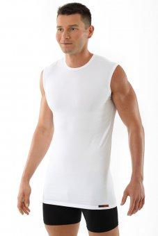 "Men's tank top undershirt ""Hamburg"" crew neck stretch cotton white"