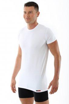 "Men's undershirt ""Hamburg"" crew neck short sleeves stretch cotton white"