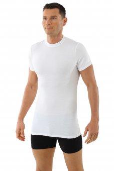 """Men's microfiber undershirt """"Stuttgart"""" with short sleeves, white"""