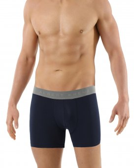 Boxer briefs antibacterial stretch cotton navy-blue