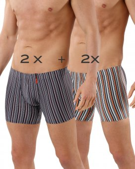 4-Pack men's boxers striped microfiber - two colors