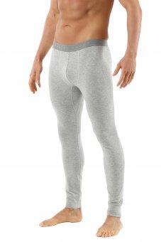 Men's long johns made of organic stretch cotton gray