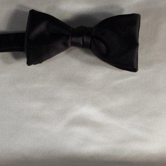bow tie white, cream-colored - unicolour, design 210015