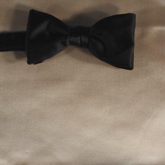 bow tie beige - unicolour, design 210021