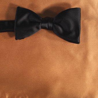 bow tie ochre - unicolour, design 210026