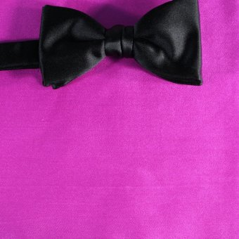 bow tie fuchsia - unicolour, design 210043