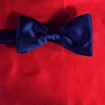 bow tie red - unicolour, design 210045
