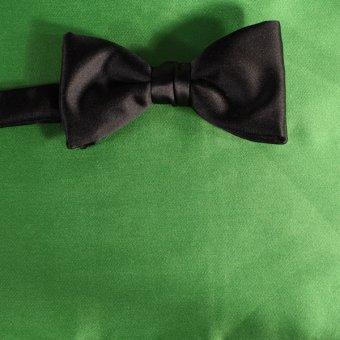 bow tie green - unicolour, design 210065