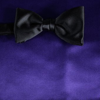 bow tie violet - unicolour, design 210077