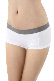 Women's boyshort panty stretch cotton white