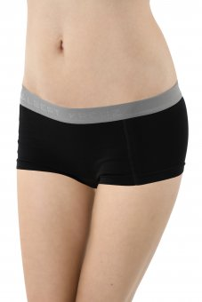 Women's boyshort panty stretch cotton black