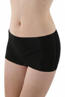 3-Pack Laser cut seamless boyshort panty stretch cotton black XS