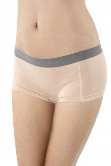 Women's boyshort panty stretch cotton nude