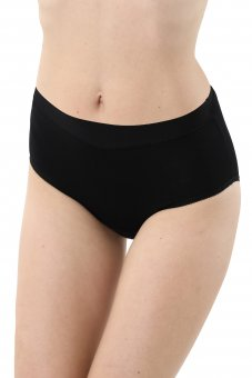 3-Pack Mid-rise panty briefs stretch cotton black