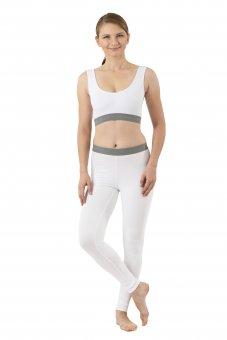 Women's leggings organic stretch cotton white