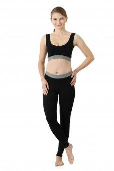 Women's leggings organic stretch cotton black