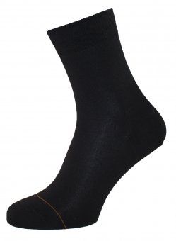 Women's cotton socks with cashmere interior black 36-38
