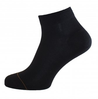 Women's cotton ankle socks with cashmere interior black