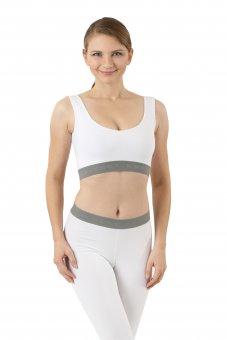 Women's slip-on wireless comfort bra organic stretch cotton white