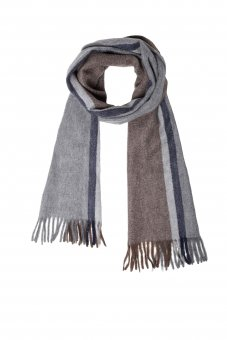 Cashmere scarf for women and men patterned 170 x 35 cm (66 x 13 inch)