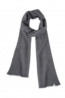 Cashmere scarf for women and men gray 200 x 65 cm (78 x 25 inch)