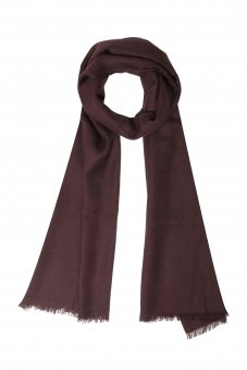 Cashmere scarf for women and men reddish brown 200 x 65 cm (78 x 25 inch)