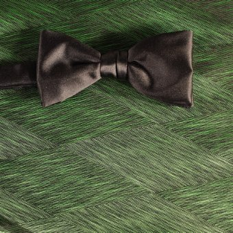 bow tie green, black - patterned, design 200028