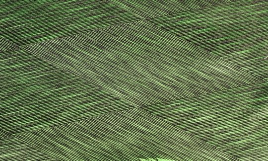 tie-scarf green, black - patterned, design 200028