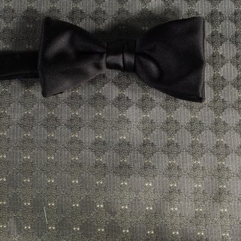 bow tie silver, greenish, grey - patterned, design 200030
