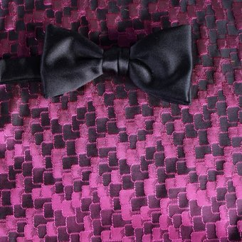 bow tie ruby-colored, violet - tone in tone, design 200036