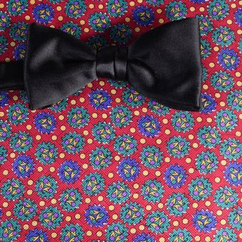 bow tie red, yellow, green, blue - patterned, design 200047