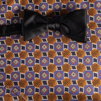 bow tie purple, white, brown - patterned, design 200053