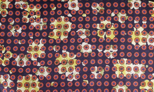 plastron red, yellow, navy blue - flowers, design 200057