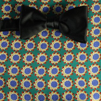 bow tie red, yellow, green, gold, blue - flowers, design 200060