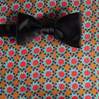bow tie red, yellow, green, blue - flowers, design 200061