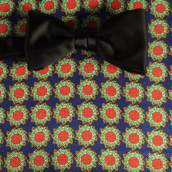bow tie red, yellow, green, blue - flowers, design 200062