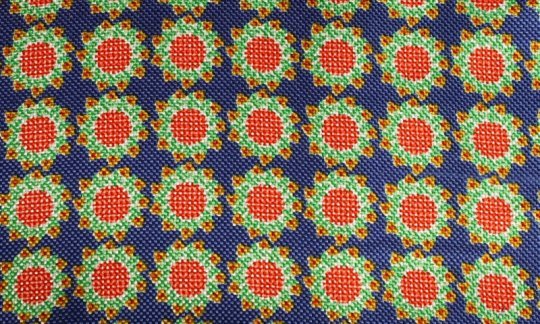 plastron red, yellow, green, blue - flowers, design 200062