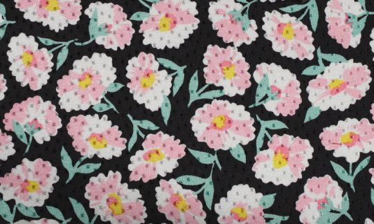 tie yellow, green, black, white, pink - flowers, design 200064