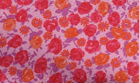 cummerbund red, orange, pink - flowers, design 200067