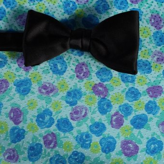 bow tie yellow, green, blue, violet - flowers, design 200069