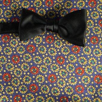 bow tie red, gold, blue, violet - patterned, design 200070