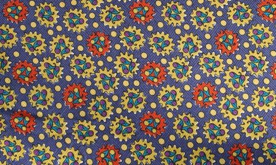 handkerchief red, gold, blue, violet - patterned, design 200070