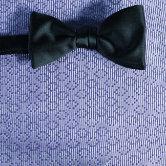 bow tie silver, purplec - patterned, design 200074