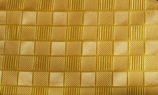 Pocket square yellow, gold - tone in tone, design 200078