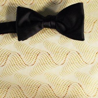 bow tie yellow, gold - polka dot, design 200079