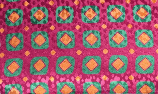 plastron red, green, gold, orange, ruby-colored - squares, design 200082