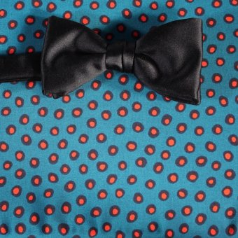 bow tie red, green, blue, black, pink - polka dot, design 200085